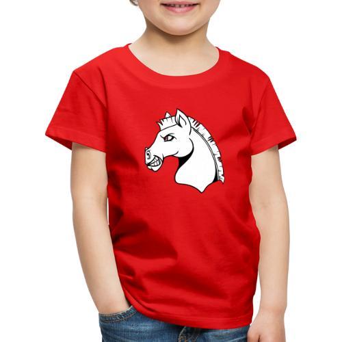 Text och Häst - Premium-T-shirt barn
