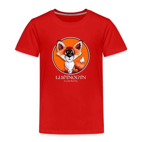 llwynogyn - a little red fox (white) - Lasten premium t-paita