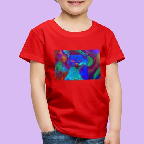 Gattino con effetti neon surreali - Maglietta Premium per bambini