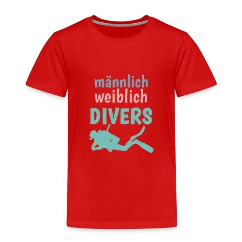 m/w/d: männlich weiblich DIVERS! Shirt für Taucher - Kinder Premium T-Shirt