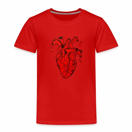 Heart - Maglietta Premium per bambini