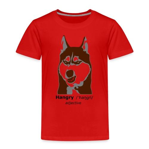 Hangry - Grumpy Dog - Husky Dog - Kinder Premium T-Shirt