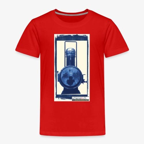Lok-Laterne mit Logo schienen.ch - Kinder Premium T-Shirt