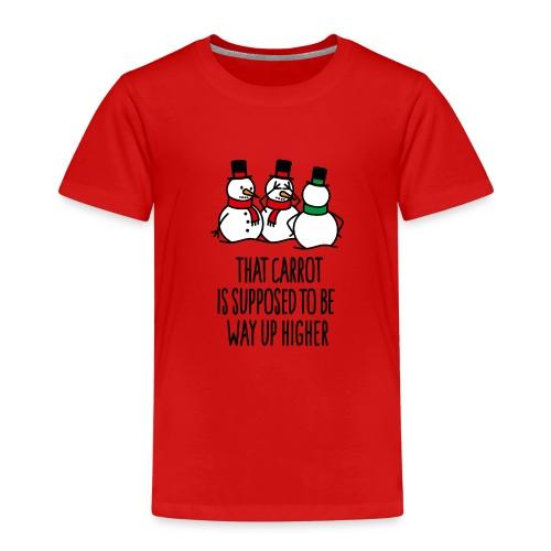 Lustige Weihnachten Geschenk Schneemann Karotte - Kinder Premium T-Shirt
