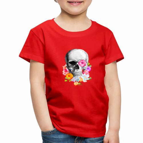 teschio flower - Maglietta Premium per bambini