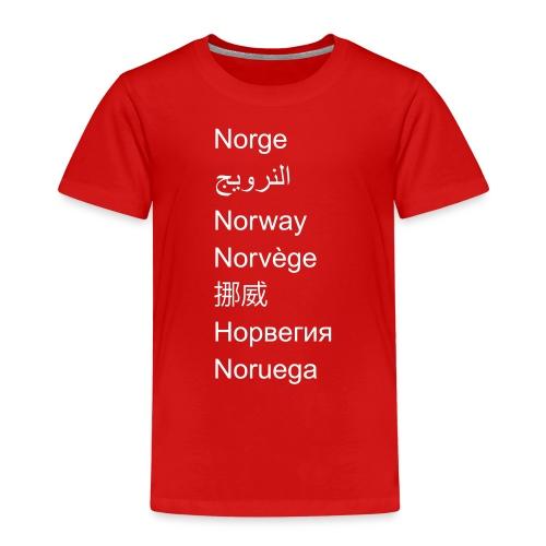 FN-Norge - plagget.no - Premium T-skjorte for barn