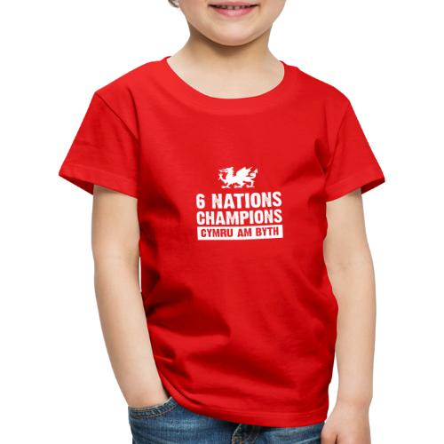 Wales Six Nations Rugby Champions - Kids' Premium T-Shirt