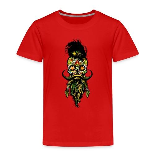 tete de mort mexicaine hipster barbu barbe moustac - T-shirt Premium Enfant