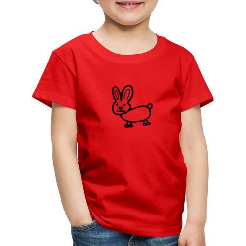 Hase Comicfigur - Kinder Premium T-Shirt