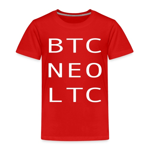 BTC NEO LTC WHITE - Kids' Premium T-Shirt