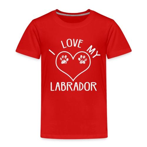 I love my labrador01 - Kinder Premium T-Shirt