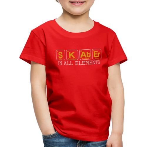 Skater In All Elements Periodic Table Science - Kinder Premium T-Shirt