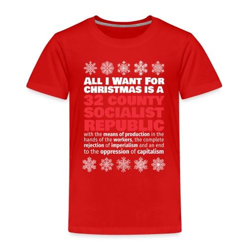 United Ireland 32 county socialist republic Christmas shirt - Kids' Premium T-Shirt