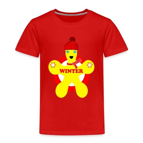 Hiver neige Noël bonhomme jaune - T-shirt Premium Enfant