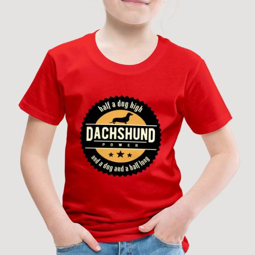 Dachshund Power - Kinderen Premium T-shirt
