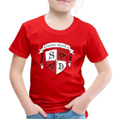 SD logo - sorte lænker - Børne premium T-shirt