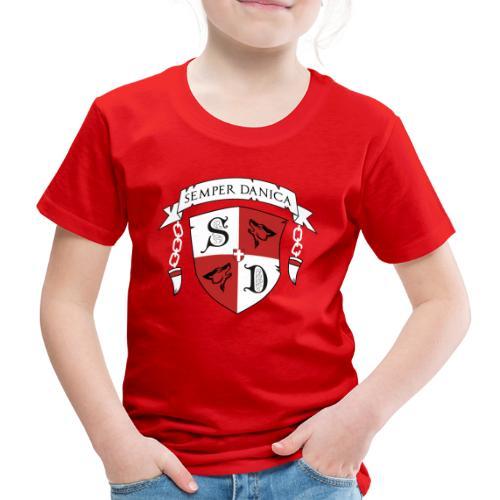 SD logo - hvide lænker - Børne premium T-shirt