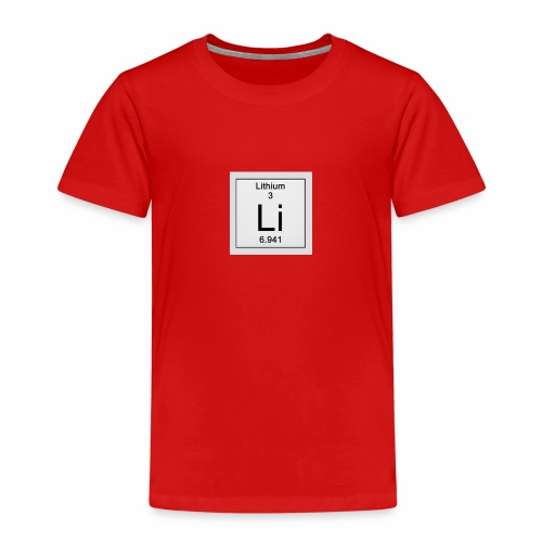 Lithium Periodic Table Image - Kinder Premium T-Shirt