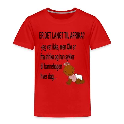 Barnehagen: Er det langt til Afrika? - Premium T-skjorte for barn