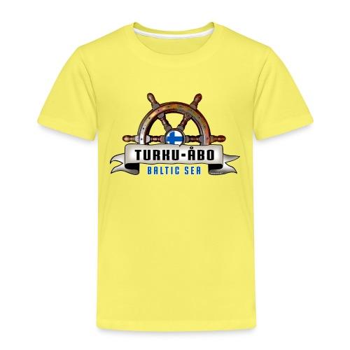 Turku Finland - Merelliset tekstiilit ja lahjat. - Lasten premium t-paita