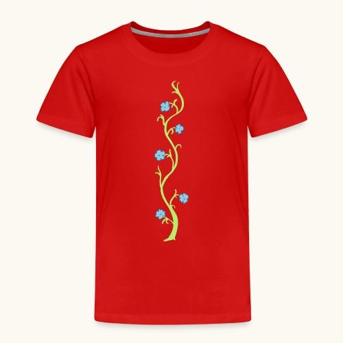 Blumenranke Farbe anpassbar Geschenk Muttertag - T-shirt Premium Enfant