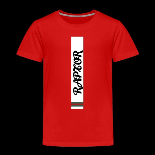 Raptor Sleeve white backround - Kids' Premium T-Shirt