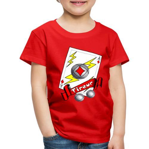 t shirt petanque tireur as du carreau boules - T-shirt Premium Enfant
