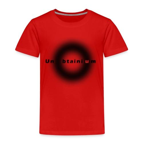 Unobtainium Cricle Logo Black - Kinder Premium T-Shirt