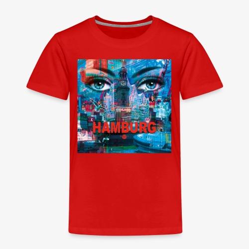 01 Faszination Hamburg Blaue Augen Elphi Michel - Kinder Premium T-Shirt