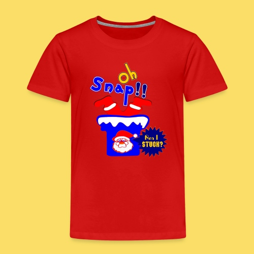 🎅😁Clumsy Santa Claus stuck in the Chimney Upside - Kids' Premium T-Shirt