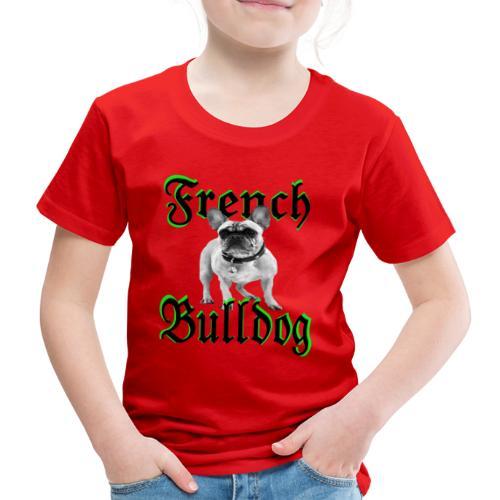 Bulldog Bulldogge Hundekopf Hundeliebhaber Hunde - Kinder Premium T-Shirt