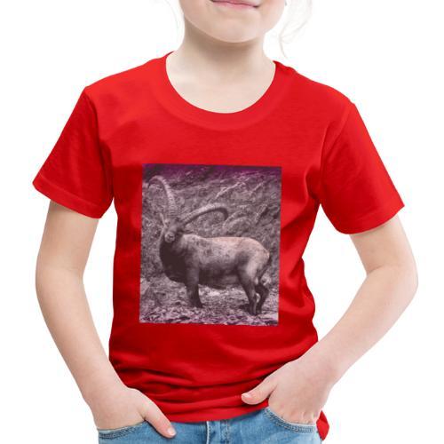 Walser Steinbock im Sommer Retro - Kinder Premium T-Shirt