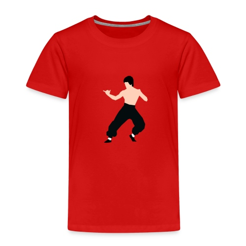 Bruce lee Kampf Pose - Kinder Premium T-Shirt