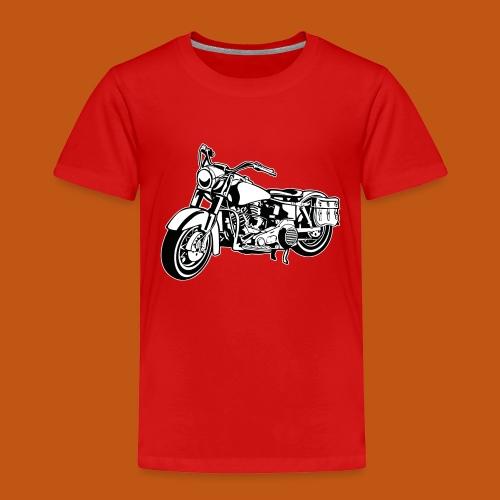 Chopper Motorrad 10_schwarz weiß - Kinder Premium T-Shirt
