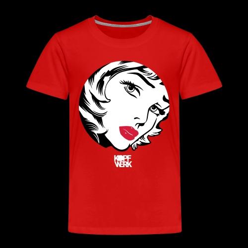 Kopf mit Schrift (weiss) - Kinder Premium T-Shirt