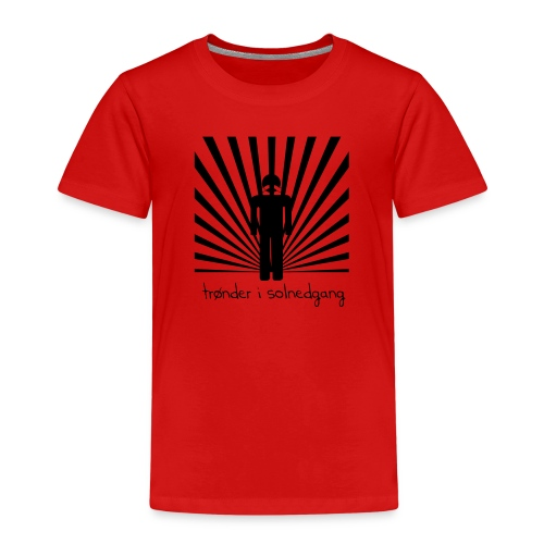 solnedgang trykk - Premium T-skjorte for barn