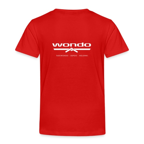 Wondo valkoinen logo - Lasten premium t-paita