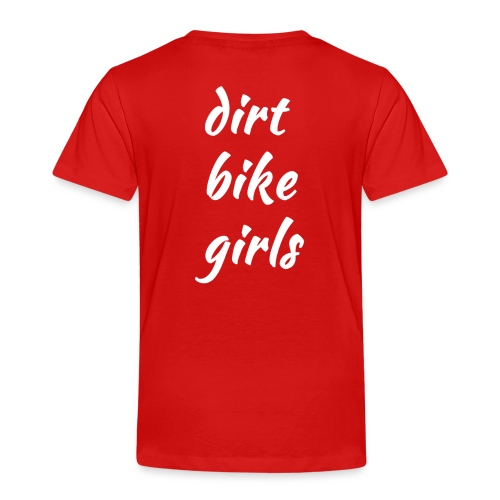 dirt bike girls - Premium T-skjorte for barn