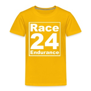 Race24 Logo - White - Kids' Premium T-Shirt
