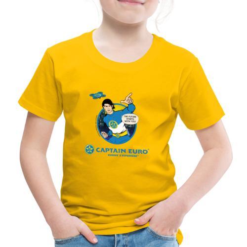 ¡LAS FUTURAS ESTRELLAS CONTIGO! círculo azul - Camiseta premium niño
