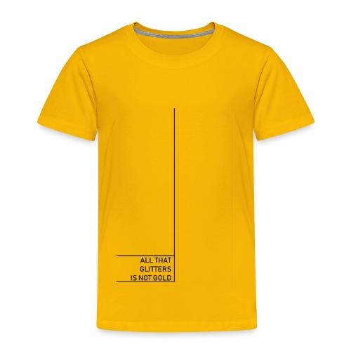 Minimal gold - Kinder Premium T-Shirt