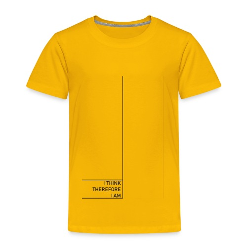 Minimal i think therefore i am - Kinder Premium T-Shirt