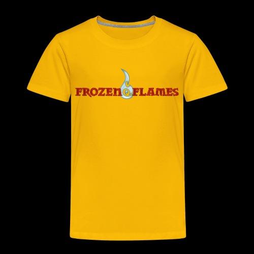 Frozen Flames Logo Schrift Pixel - Kinder Premium T-Shirt
