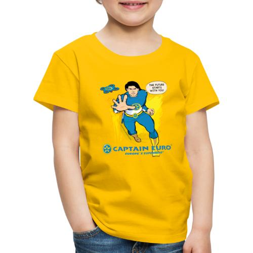 El futuro protagoniza contigo - marca azul. - Camiseta premium niño