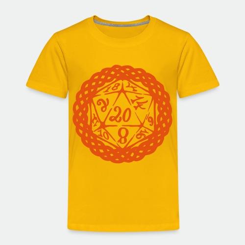 D20 Geschenk Glücksbringer Rollenspiel Würfel - Kids' Premium T-Shirt