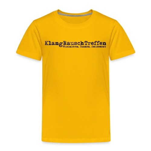 KlangRauschTreffen als Schriftzug - Kinder Premium T-Shirt
