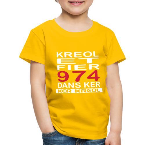 fier et kreol hom 02 ti - T-shirt Premium Enfant