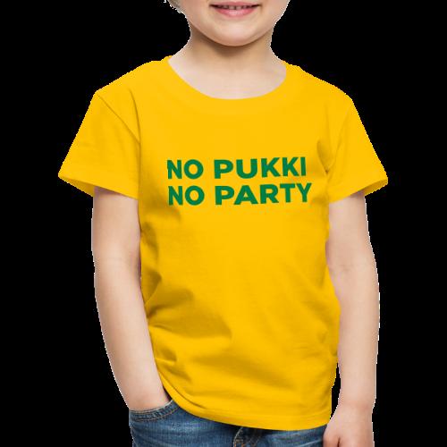 No Pukki, no party - Lasten premium t-paita