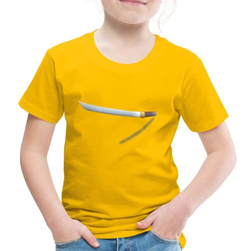 Short Swort yellow 3D with Shadow - Kinder Premium T-Shirt