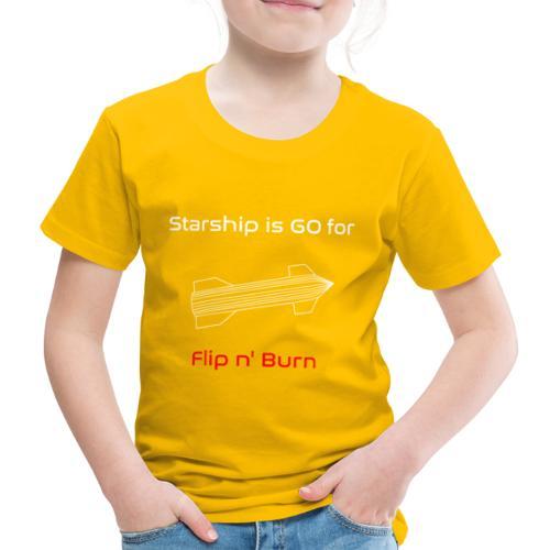 Starship-like Wireframe is Ready for Flip n' Burn - Kids' Premium T-Shirt